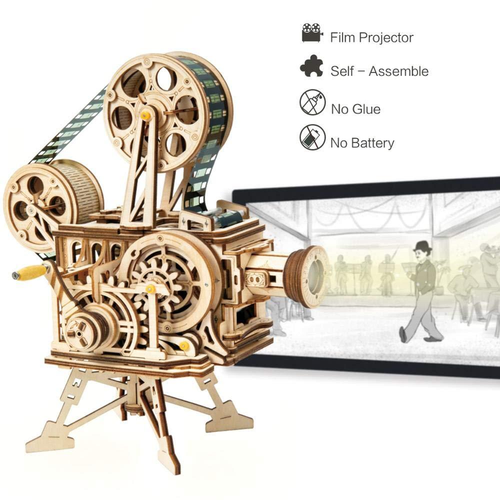 Feeyond Manivelas DIY 3D Flim Proyector Juego De Rompecabezas De ...