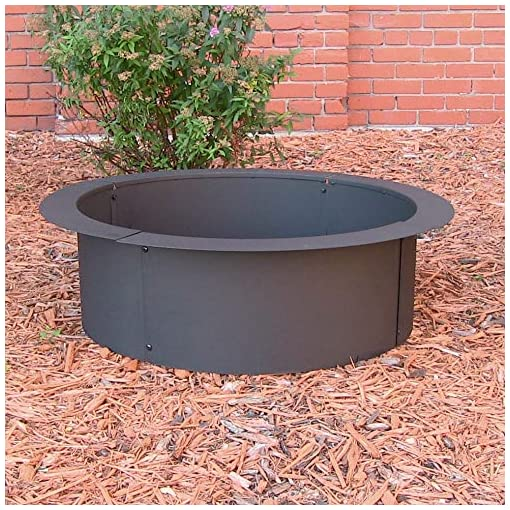 Fire Pits Sunnydaze Wood Burning Outdoor Fire Pit Ring / Liner – Heavy Duty – DIY Above or In Ground Fire Ring Kit – 45 Inch… firepits