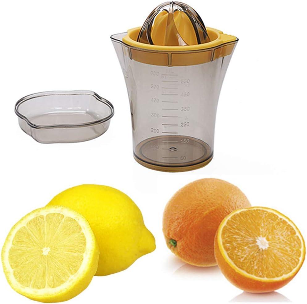 SLKIJDHFB Citrus Lemon Orange Juicer, Manual Hand Squeezer, 2in 1 Multi-function Manual Juicer with Strainer and Container(20oz)
