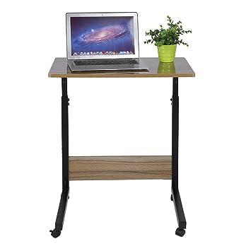 ALTERDJ: Mesa de Ordenador portátil con Ruedas giratorias, Altura Ajustable, portátil, portátil, portátil, con Tapa movible, Bandeja para sofá Cama con ...