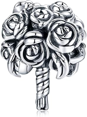Amazon Com Bamoer Wedding Charm Bracelets For Women Sterling Silver Charms For Pandora Bracelets Jewelry