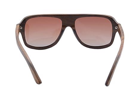 SHINU HACHATE Preto Woody Sonnenbrillen übergroßen Sonnenbrillen Retro Polyarized6043 (gradient brown) fsdn3