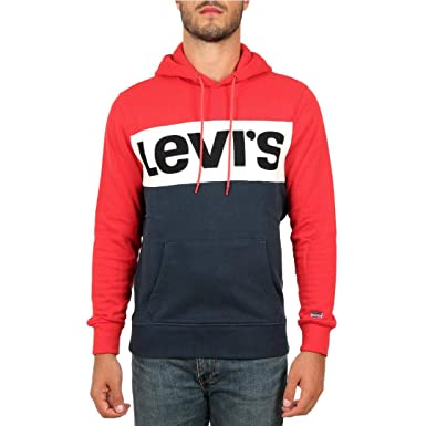 87715ac0bd6b Levis Sweat Levis 56613 Colorblock Rouge  Amazon.fr  Vêtements et  accessoires