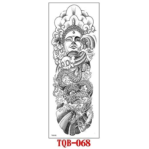 tzxdbh 3pcs- Nuevas Pegatinas de Tatuaje de Brazo Completo ...