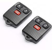 CENTAURUS Car Key Fob (Set of 2) Keyless Entry Remote 3 Button Replacement for 1998-2016 F150 F250 F350 - CWTWB1U331…
