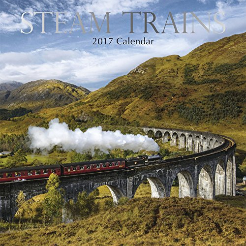"Steam Trains Locomotives 2017 Monthly Wall Calendar, 12"" x 12"""