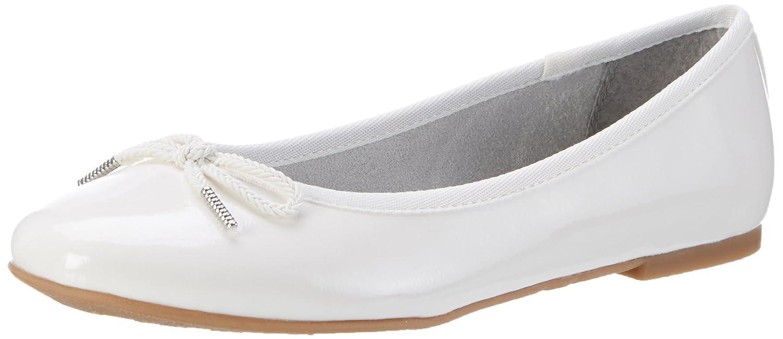 Tamaris Damen 22123 Geschlossene Ballerinas, Weiß (White Patent 123), 38 EU