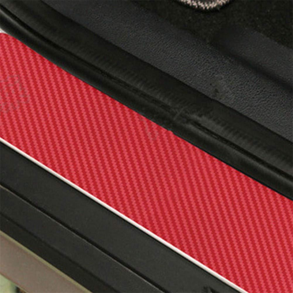 Gallocabe 4pcs Carbon Fiber Door Sill Sticker Scuff Plate Cover Anti Scratch Scuff Panel Step Protector