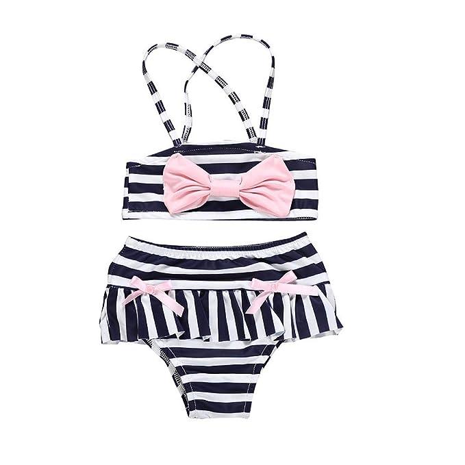 Amazon.com: Bañador de una pieza para niñas de verano con ...