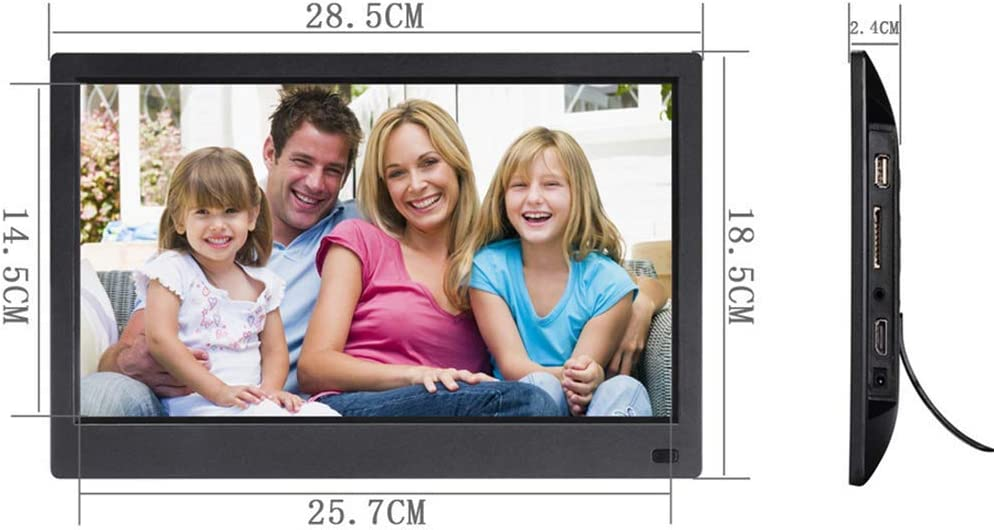 Photos Auto Rotate Support 1080P Videos MUYEY HD Digital Photo Frame13 Inch 1280x1080 178 /° Full-View IPS Screen HDMI Input,Support USB and SD Card,White