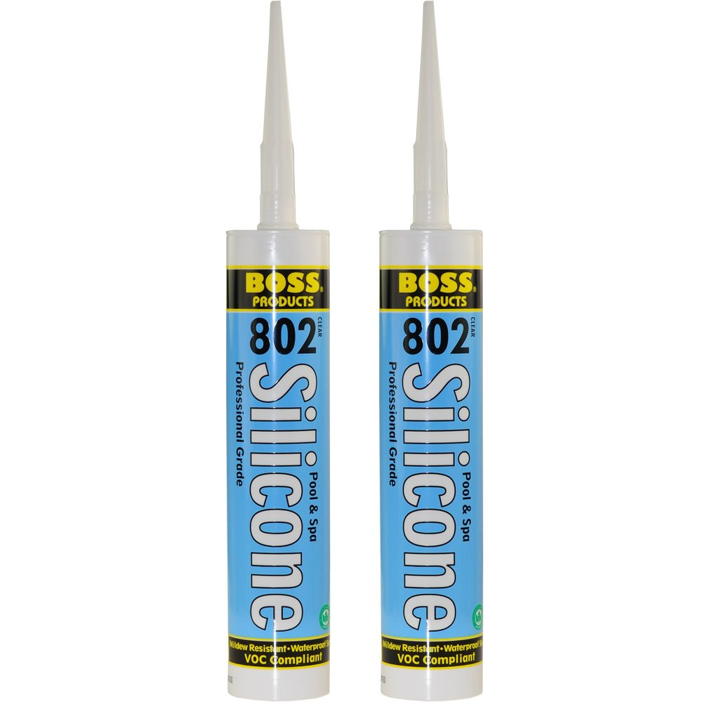 Amazon.com: 2-Pack Boss 802 Clear Pro Grade Silicone Sealant for ...