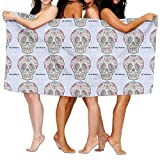Carmen A Mexican Skulls Dia De Muertos Bath Towel Adult Microfiber Towel 31 X 51 Inch Bath Sheet