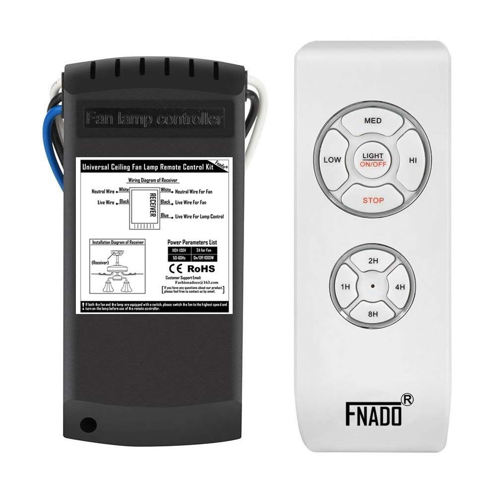 Best Rated In Ceiling Fan Remote Controls Helpful Customer Reviews Wiring For With Fnado F2 U Fixed Code Universal Lamp Controller Kit