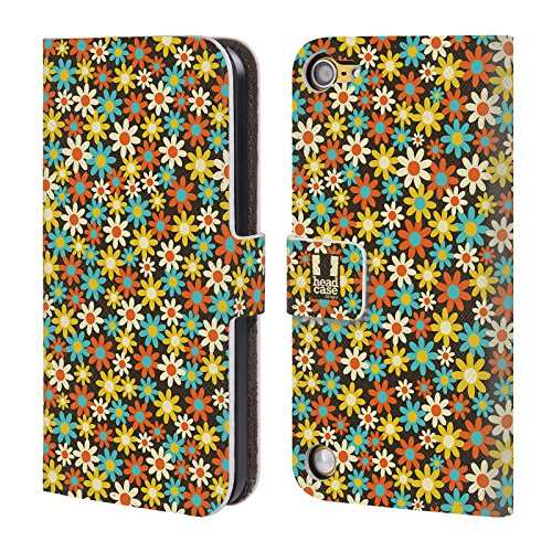 Head Case Designs Limone Pattern Floreali Cover a portafoglio in pelle per iPod Touch 5th Gen / 6th Gen