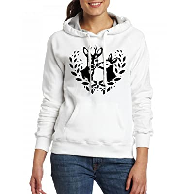 A deer and a roe buck Womens Hoodie Fleece Custom Sweartshirts