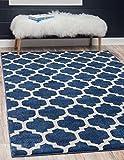 Unique Loom Trellis Collection Moroccan Lattice Dark Blue Home Décor Area Rug (2′ x 3′) Review