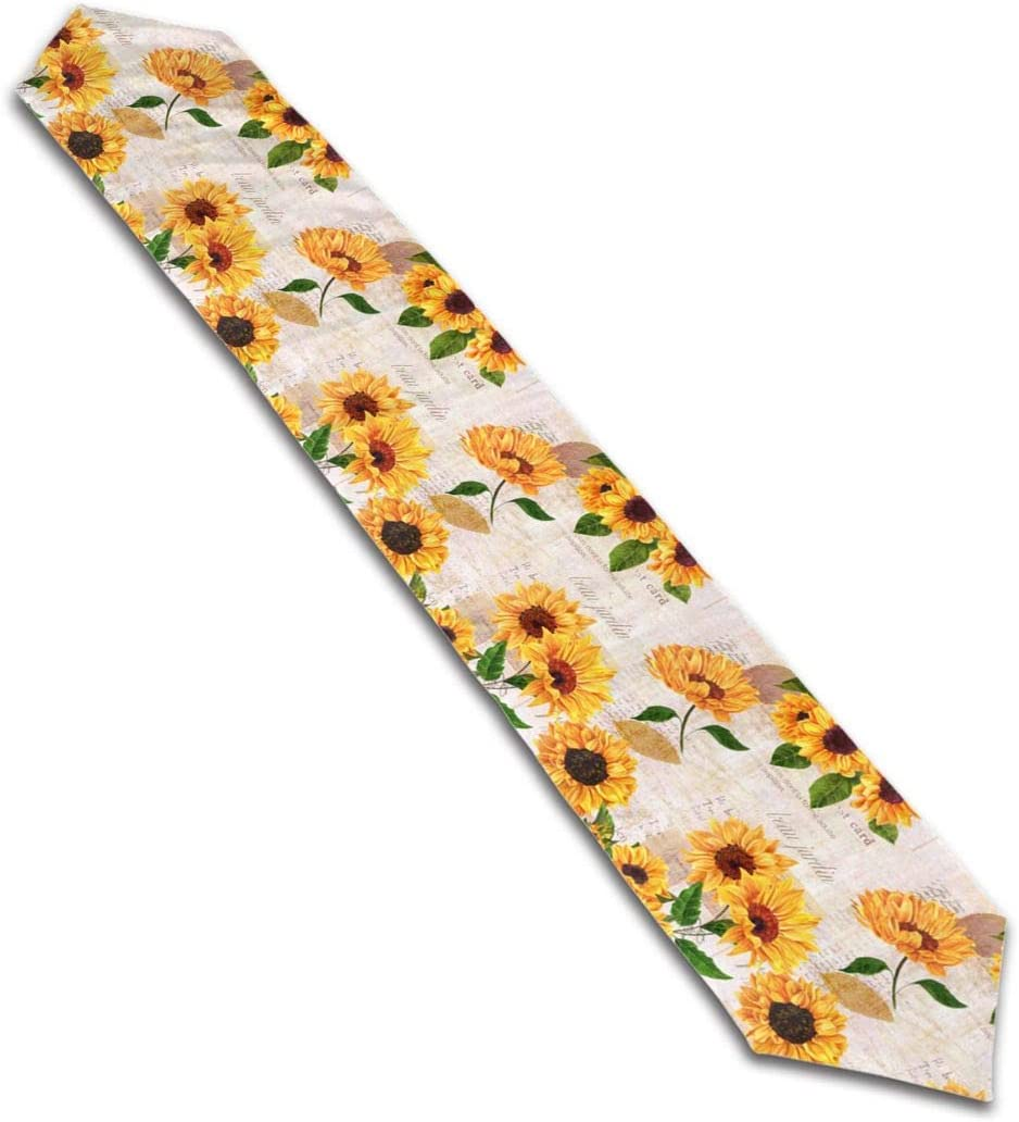 Yellow Sunflower Table Runner Home Decor Vintage Grunge Floral Table Cloth Runner Coffee Mat for Wedding Party Banquet Decoration 13'' x 70''