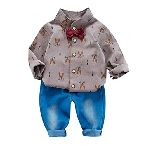 3a0ec20528d Amazon.com  Newborn Baby Boy Clothes Tops Shirt + Pants 2pcs Toddler Boy  Infant Clothing Sets  Shoes
