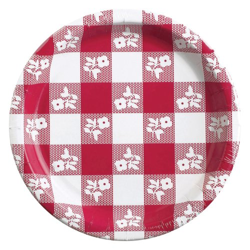 Creative Converting Dinner Plates Gingham