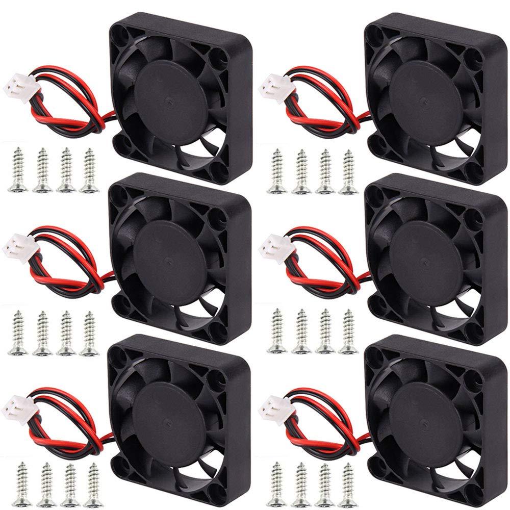 Nsiwem Ventiladores para impresora 3D 6 piezas Ventilador de Enfriamiento Impresora 3D Ventilador Mini Ventilador 40X40X10mm 12V 0,1A DC con 20cm de cable para impresora 3D