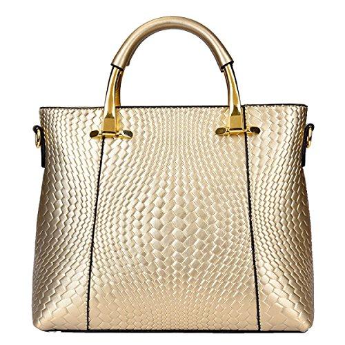 Yy.f Nuevos Paquetes De Gama Alta Patrón Bolsos Indentación Moda Tejida Distinguido Bolso De Hombro Diagonal Bolso Color 3 Gold