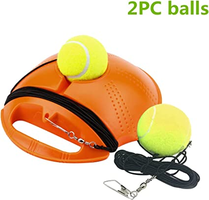 Portable Fill /& Drill Base Tennis Trainer Practice Training Aid Set