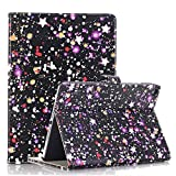 iPad Air 2 Cover Case ,elecfan Luxury Book Style PU Leather Screen Protective Magnetic Smart Case Cover for Apple iPad Air 2 9.7 inch (iPad Air 2, A01-Purple)