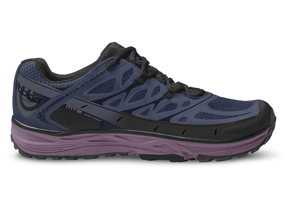 TOPO Womens MT-2 Trail Running Shoe, Blue/Purple, Size 8.5