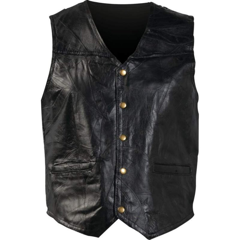 377ee3a9f Giovanni Navarre Men s Buffalo Leather Motorcycle Casual Vest at Amazon  Men s Clothing store