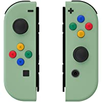 eXtremeRate Soft Touch Matcha Green Joycon Handheld Controller Housing with ABXY Direction Buttons, DIY Replacement…