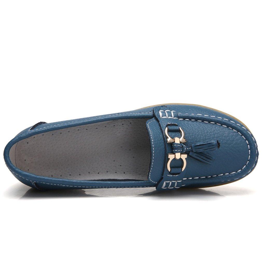 Scarpe donna Mocassini Mocassini in in in vera pelle Mocassini primavera autunno Donna Casual in pelle nera Calzature Blue 11 - c2ba97