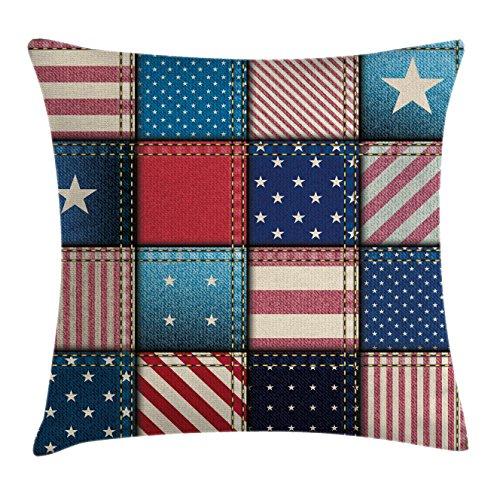 Ambesonne Farmhouse Decor Throw Pillow Cushion Cover, Americ