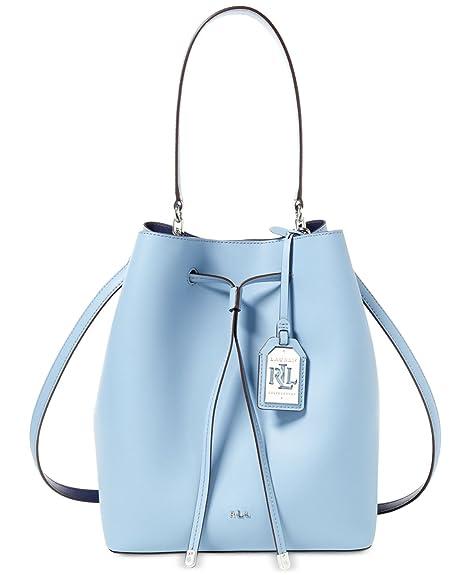 87965e5a4b ... uk lauren ralph lauren dryden debby drawstring blue mist marine  drawstring handbags 7fd4d ae0c2
