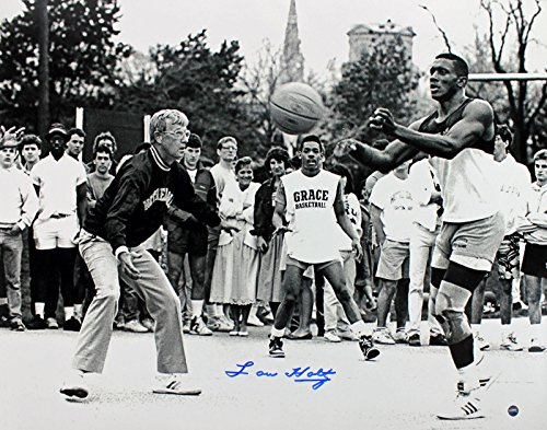 (Notre Dame Lou Holtz Signed 16X20 Photo w/Tim Brown Holo/COA - Steiner Sports Certified - Autographed College Photos)