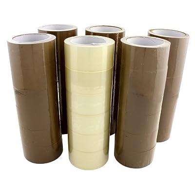 Dectane dWPB30B6T 30 Rouleaux de Ruban d'emballage en polypropylène Transparent/Marron