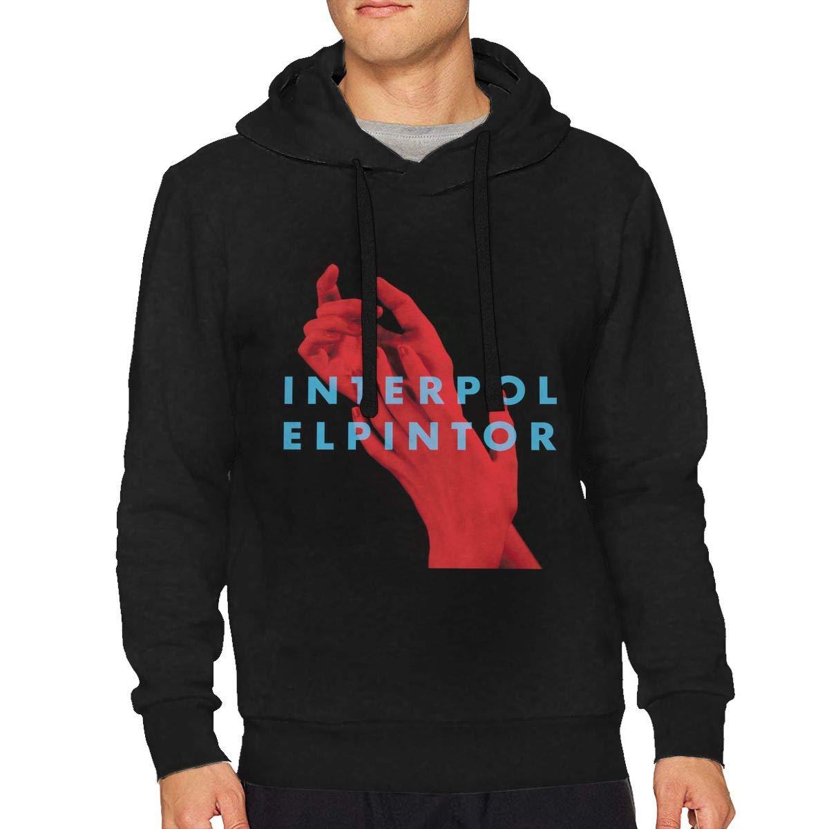StellaR. Walker Man Interpol El Pintor Music Band Loose Hooded Casual Hooded