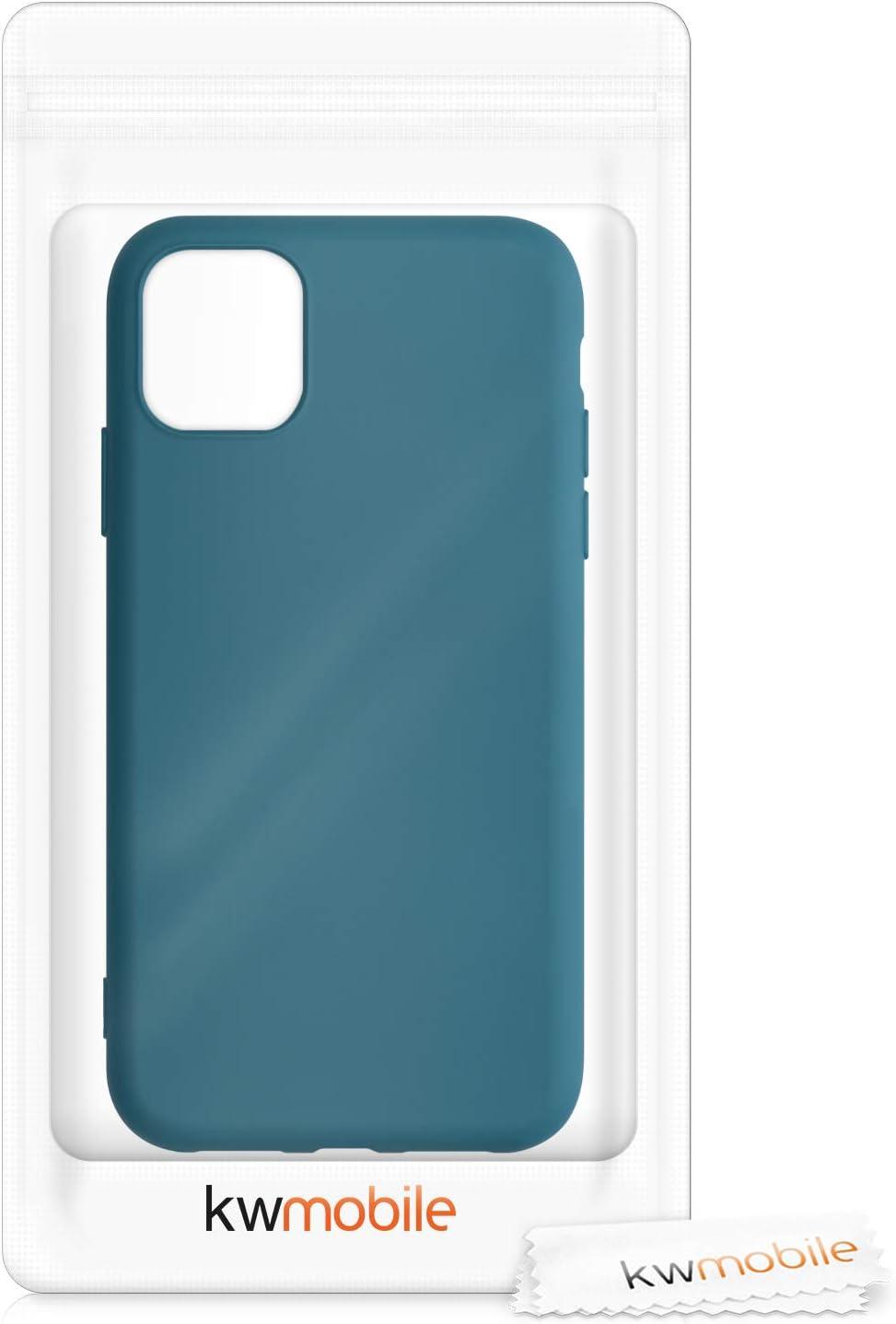 Carcasa de Silicona TPU para m/óvil Cover Trasero en Rosa Palo kwmobile Funda Compatible con Apple iPhone 11