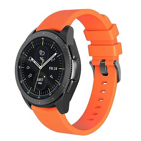 BarRan Bracelet pour Huawei Watch GT,22MM Quick Release Bande en TPU Silicone Souple de