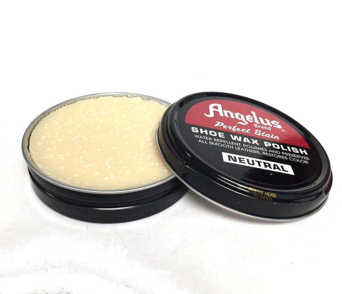 Angelus Perfect Stain SHoe Wax Polish, 2.6oz (Neutral)