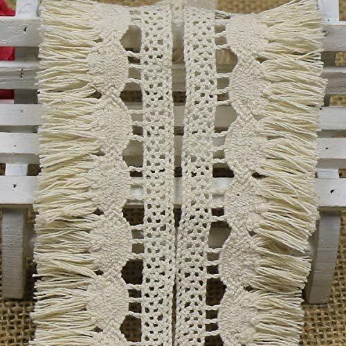 Yulakes Ruban de Dentelle Vintage en Coton 3,5 cm