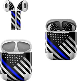 product image for Skin Decals for Apple AirPods - Thin Blue Line Hero - Sticker Wrap Fits 1st and 2nd Generation