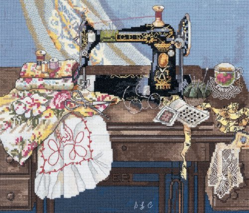 Candamar Designs Sewing With Mama Cross Stitch Kit by Candamar Designs