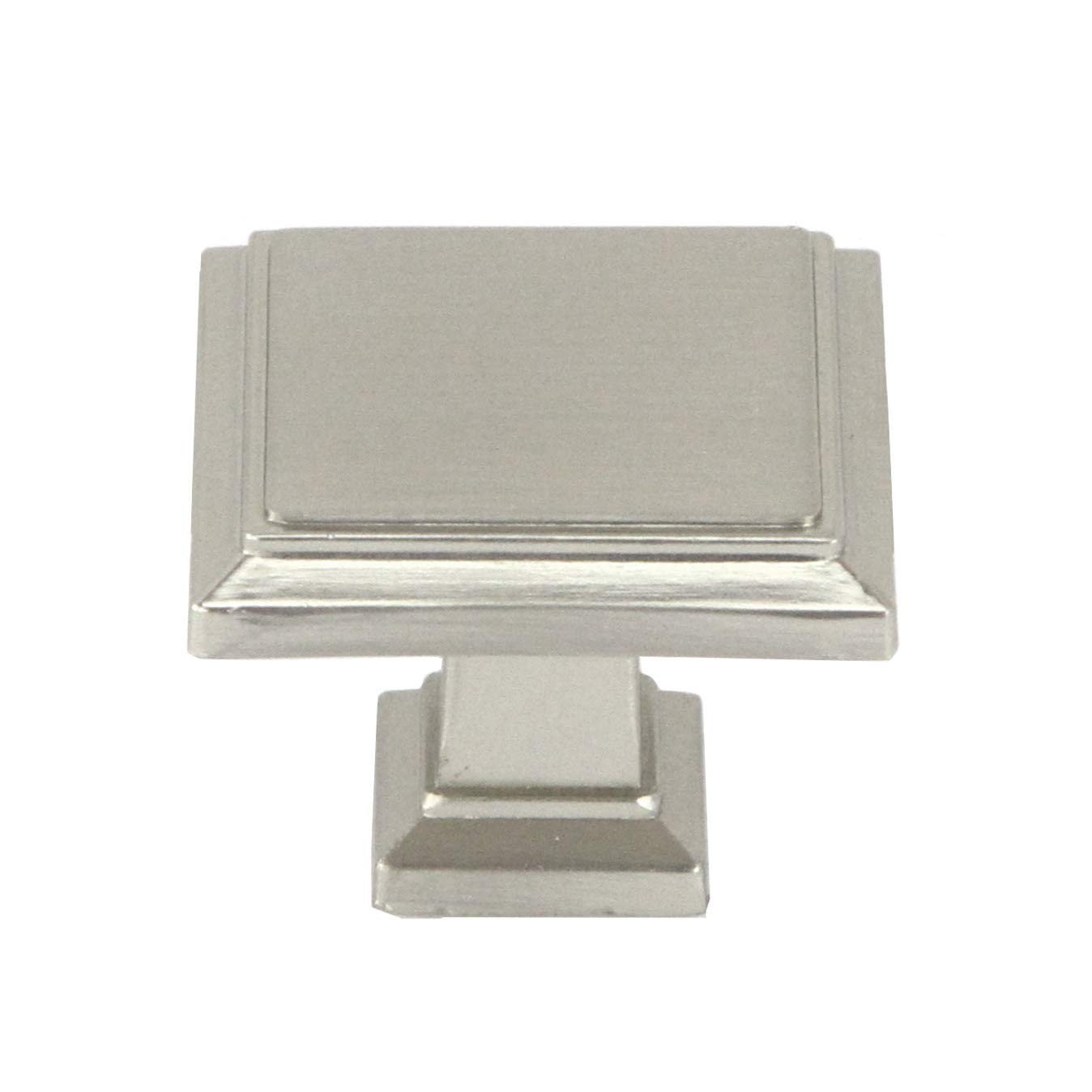 Kingsman Roma Series 1-1/4 in. (32mm) Square Soild Zinc Alloy Cabinet Knob (50, Brushed Nickel)