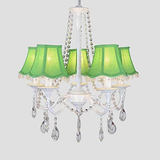 Tangmengyun modern simple crystal chandelier creative cloth tangmengyun modern simple crystal chandelier creative cloth lampshade decorative pendant ceiling lamp bedroom living aloadofball Gallery