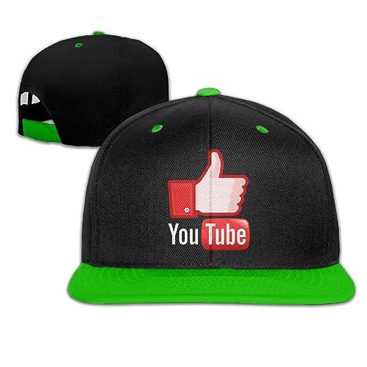 6b714eee2e6 Amazon.com  AAWODE Kid s YouTube Logo Hats Caps KellyGreen ...