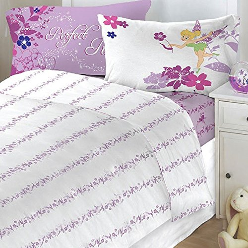 Tinkerbell Sets (4pc Disney Tinkerbell Powder Purple Full Sheet Set)