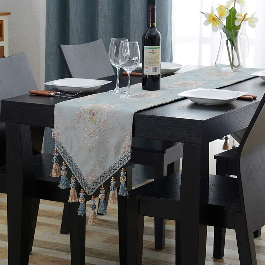 ヨーロッパ式のテーブルの旗、布の刺繍の贅沢なTVのキャビネットのテーブルクロスの装飾のダイニングテーブル CFJRB (Size : 32X240cm) 32X240cm  B07SN1XZK7