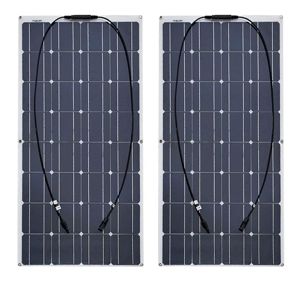 Batería solar 2 piezas 4 piezas 10 piezas 100w Panel solar monocristalino Célula solar Flexible 12v 24 voltios 100 vatios para coche/yate/barco de vapor-200 W