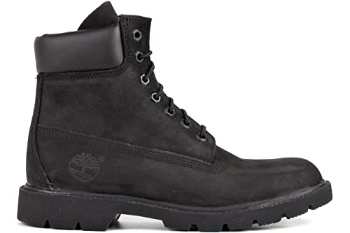Timberland Mens 6-inch Basic Waterproof Black Nubuck Boot - 7 M