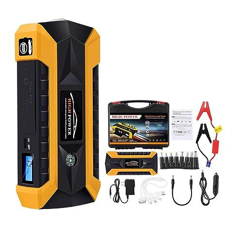 XWEM Coche portátil Jump Starter, 600A 20000mAh Emergencia batería Booster Pack con 4 Salidas de